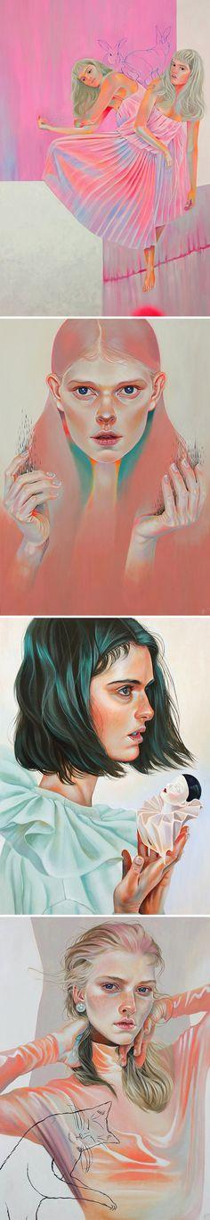 acrylic paintings by martine johanna