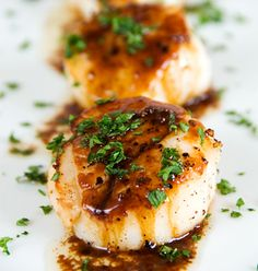 Seared Scallops, Sautéed and Garnished — KidneyBuzz