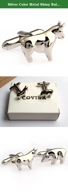 Silver Color Metal Shiny Bull and Bear Figures Stock Market Men's Copper French Suit Cufflinks One Pair. Specification: weight: about 20 g Material: Brass, high-grade stainless steel plating Perfect for any occasions: Office, Meetings, Events, Anniversaries etc, elevating fashionable image to your personal appearance. Fine polished, with highest quality made of solid, surgical metal setting for the everlasting shine.
