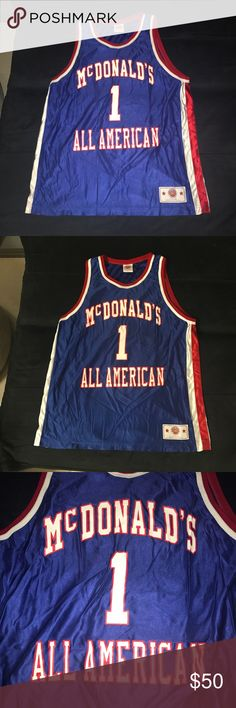 f3727f0ca76 Tracy McGrady McDonald's All American Jersey Tracy McGrady TMac McDonalds  McDonald's High School All American Game