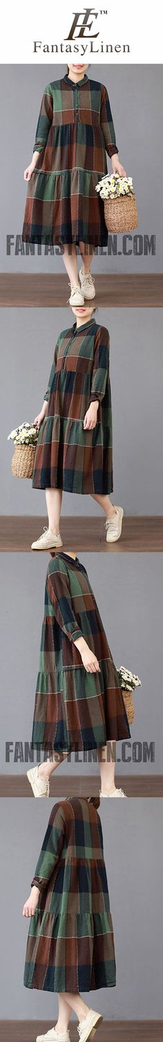 61 Ideas Baby Dress Summer Skirts For 2019 Summer Skirts, Summer Dresses For Women, Dress Summer, Linen Dresses, Cotton Dresses, Plaid Dress, Dress Skirt, Trendy Baby Clothes, Nice Clothes