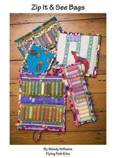 Zip It & See Bags -Pattern