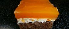 Recept Tvarohové řezy s džusovou polevou Kefir, Nutella, Food And Drink, Cooking Recipes, Sweets, Homemade, Baking, Desserts, Gardening