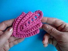 ▶ Как вязать листик крючком Урок289 How to crochet leaf - YouTube