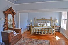 Guest Room 214 has views toward the west to Railroad Avenue Guest Room, Toddler Bed, Restoration, Furniture, Home Decor, Child Bed, Decoration Home, Room Decor, Home Furnishings