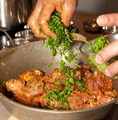 Making of Hyderbadi Kachche Gosht Ki  Biryani (Goat Biryani) ........pics from the chef himself !!