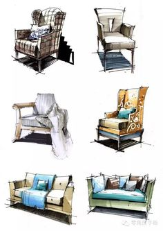 furniture sketch 47 Super Ideas For House Sketch Marker Interior Design Interior Design Renderings, Drawing Interior, Interior Rendering, Interior Sketch, Home Interior Design, Architecture Design, Simple Interior, Classic Interior, Classical Architecture