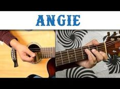 how to play Angie on guitar by the Rolling Stones - acoustic guitar lesson_tutorial - YouTube