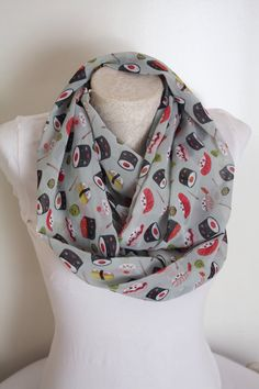 Sushi Scarf Sushi Set Infinity Scarf Women Accessories Foodie Gifts Gift for Her by dreamexpress from dreamexpress on Etsy. Find it now at http://ift.tt/2b9K4Gm!