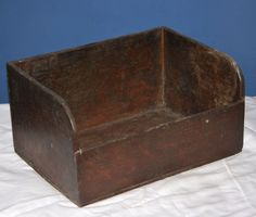 "ORIGINAL ANTIQUE GENERAL STORE COUNTER TOP WOODEN BIN 12"" L x 9"" W x 6"" H"