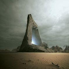 Stargate portal to other dimensions within yourself. For your Wisdom area of the Bagua. Fantasy Places, Sci Fi Fantasy, Fantasy World, Final Fantasy, Apocalypse World, Post Apocalypse, Arte Sci Fi, Sci Fi Art, Stargate