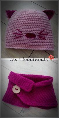 teo's handmade: Caciulita si guleras crosetate pentru fetite ... m... Crochet Hats, Fashion, Tejidos, Knitting Hats, Moda, Fashion Styles, Fashion Illustrations