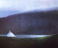 Albert Bertelsen - Norvège Watercolor Landscape, Landscape Art, Landscape Paintings, Landscapes, Watercolour, Thing 1, Old Art, Art Studios, Norway