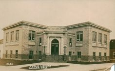 The Story of Olympia's Public Libraries:  Olympia's Carnegie Library, as seen in this historic postcard, was the pride of the community when it opened in 1914. Courtesy Private Collection.
