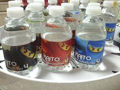ninjago birthday water bottles Ninjago Party, Water Bottles, Lego, Birthdays, Drinks, Anniversaries, Drinking, Beverages, Birthday