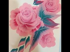 One Stroke Painting Tutorial- Floral Composition - YouTube