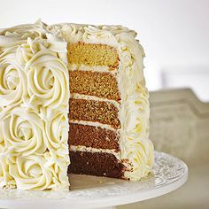 Ombre Cake With Butter Caramel Frosting