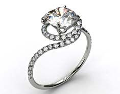 Pave Set Swirl by Danhov Designer Engagement Ring.  So different - I love it. Put a yellow diamond in it and im all yours