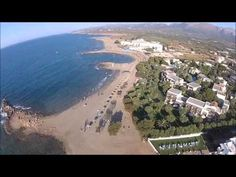 Aerial view from Malia Crete Greece, summer 2012 We thank everyone who came to Crete on holiday. musik:Dimitris Athanasiou-touch me Crete Greece, Aerial View, Sailing, Country Roads, Sky, World, Beach, Water, Crete