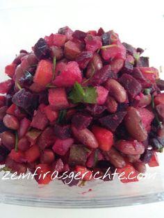 Bohnen rote bete salat