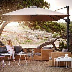 Cane-Line Hyde Parasol Taupe #Outdoor #Garden #Summer