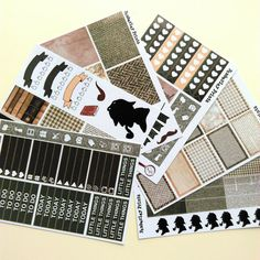 Sherlock Holmes Weekly Sticker Set Perfect for by PemberleyPrints