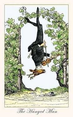 Pinner: Very cool interpretation of the Hanged Man.  A question to ask when you receive the Hanged Man in a reading: Does your sense of self come from inside or does it come from outside sources?