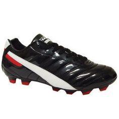SALE - Mens Vizari Elite V90 Soccer Cleats Black Leather - Was $44.99 - SAVE $7.00. BUY Now - ONLY $37.99