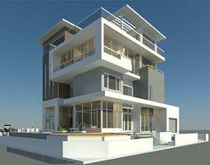 A villa in DongNai province, Viet Nam Architecture Building Design, Home Building Design, Concept Architecture, Modern Architecture, Building A House, Front Elevation Designs, House Elevation, House Front Design, Modern House Design