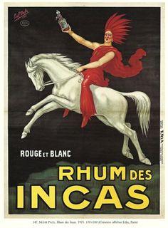 Rhum de incas french advertising poster