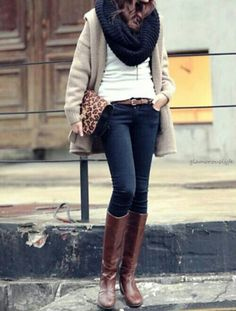 Perfect! Fall and winter outfit!