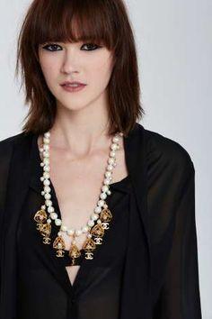 Vintage Chanel Bells & Pearls Necklace | Shop Vintage at Nasty Gal!
