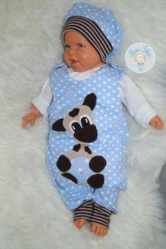 Babystrampler+++Mütze+Gr.+62,+Applikation+Giraffe+von+Mon+Filou+auf+DaWanda.com