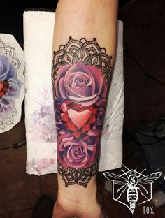 Badass roses tattoo