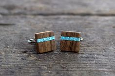 Check out this item in my Etsy shop https://www.etsy.com/listing/182106899/wooden-cufflinks-square-spalted-walnut