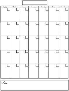kids can make their own calendar printable blank calendar template