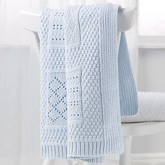 Knitted Patchwork Baby Blanket