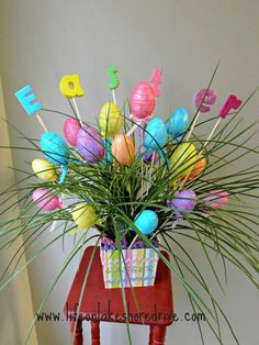 Easter Egg Spring Decor Arrangement  Life on Lakeshore Drive