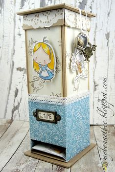 Paper Art, Paper Crafts, Big Shot, Alice In Wonderland, Tea Party, Decoupage, Origami, Decorative Boxes, Card Making
