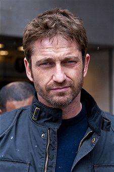 LONDON, ENGLAND - APRIL 04:  Gerard Butler sighted departing BBC Radio One on April 4, 2013 in London England