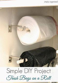 Simple DIY: Trash Bags on a Roll | simply organized | Bloglovin