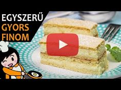 Mézes krémes - Recept Videók - YouTube Hungarian Recipes, Vanilla Cake, Cheesecake, Make It Yourself, Desserts, Food, Youtube, Tailgate Desserts, Deserts