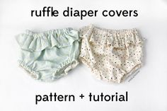 DIY Ruffle : DIY belly + baby - ruffle diaper covers pattern + tutorial   : DIY Clothes DIY Refashion