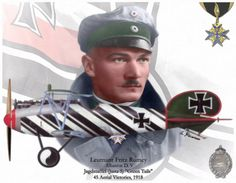 Leutnant Fritz Rumey by A. Ww2 Aircraft, Fighter Aircraft, Military Aircraft, Airplane Fighter, Military Camouflage, Military Art, Military History, Luftwaffe, Kaiser Wilhelm