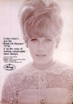 "ad for Lesley Gore's excellently titled ""Brink of Disaster"""