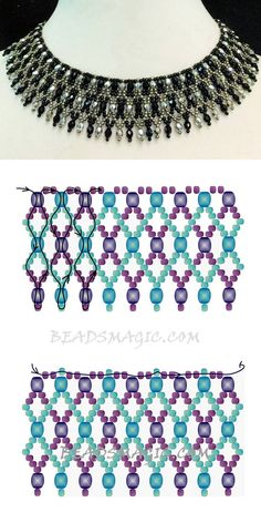 Free pattern for necklace Elai