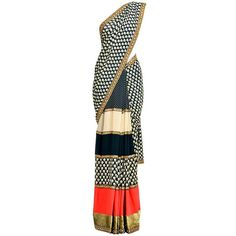 saree ❤ liked on Polyvore featuring dresses, saree, gowns, sari, indian, indian dresses, blue color dress and blue dress