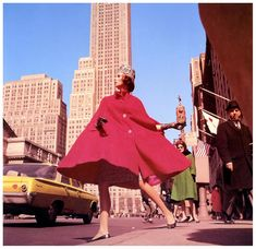 Great shot full of stunning colour and movement by the great Rico Puhlmann, featuring model Wilhelmina Cooper for Stern magazine - New York, 1962.