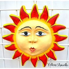This sun is made for you to place it inside outside your home. These suns are waterproof and sunproof so you dont have to worry about the color wearing off. Good Morning Sunshine, Sunday Morning, Tangled Sun, Sun Moon Stars, Sun Art, Elementary Art, Painted Rocks, Light In The Dark, Cool Art