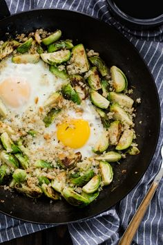 Brussels Sprouts and Eggs Breakfast by naturallyella #Breakfast #Eggs #Brussel_Sprouts